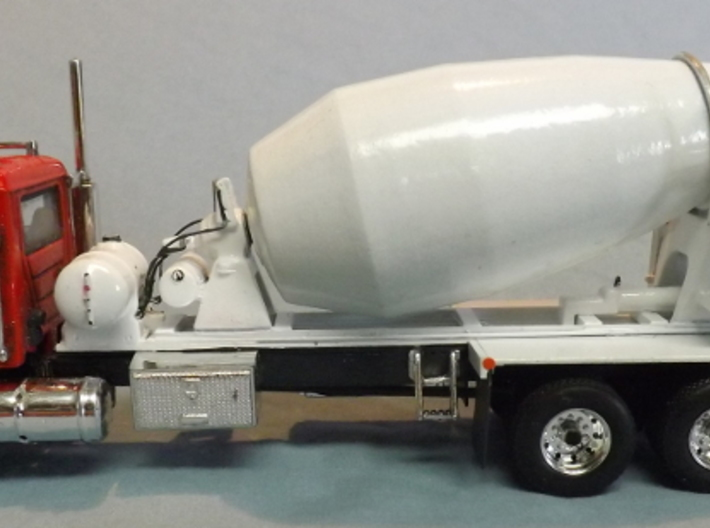 1/64th Scale Cement Mixer Part 1 3d printed Finished by Shop owner, with added details and mounted on a First Gear Mack Granite