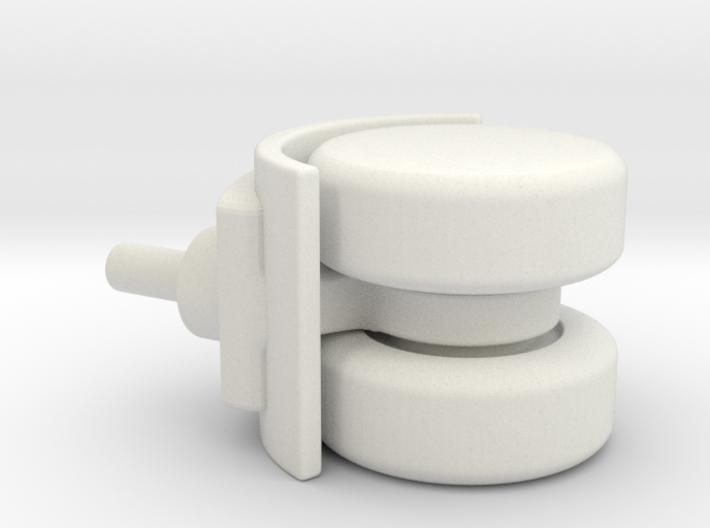Double wheel for furniture 3d printed