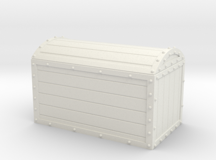 1/56th (28 mm) scale wooden chest with metal frame 3d printed