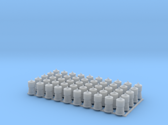 Charcoal Heaters for Reefers HO Scale X50 3d printed