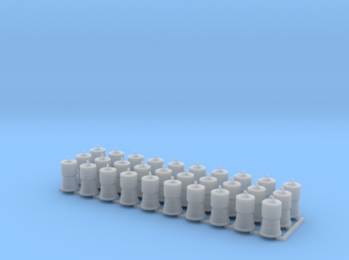 Charcoal Heaters for Reefers HO Scale X30 3d printed
