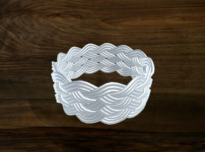 Turk's Head Knot Ring 6 Part X 13 Bight - Size 18. 3d printed