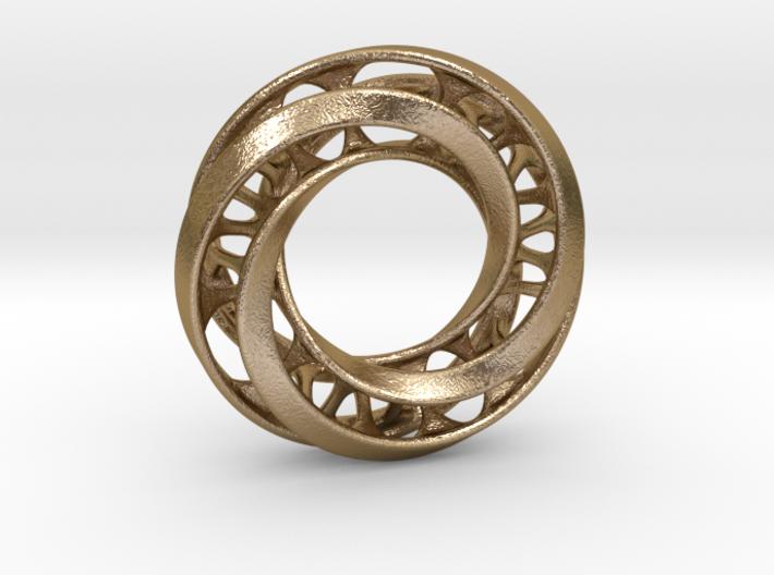 Mobius Ring Pendant v4 3d printed