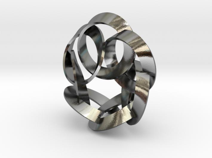 7 Twisted Loops earring 3d printed