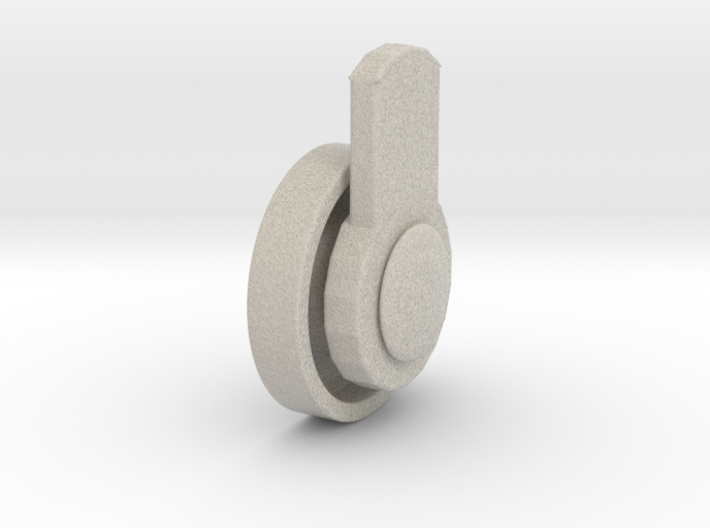 Wheel for furniture pieces 3d printed