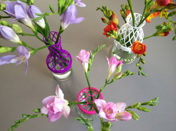 Tower Vase for jar size:63 (4 leads) 3d printed assorti vases