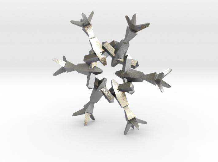 Snow Flake 6 Points B - 4.6cm 3d printed