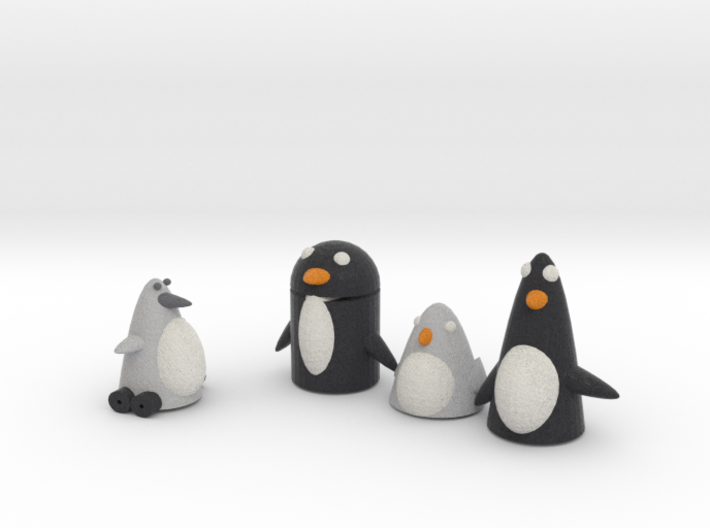 Robo Penguin Reseaching Real Penguins  3d printed