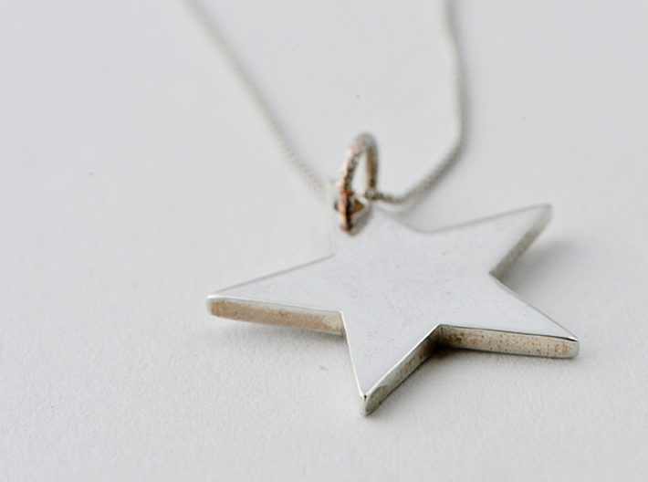 Flat star necklace pendant 3d printed Star Necklace / Get Bli