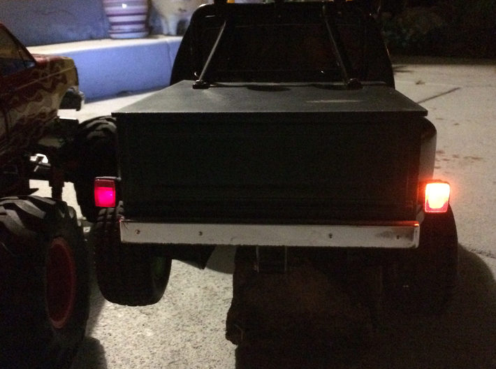 027003-02 Blackfoot & F150 Tail Lamp Housings 3d printed Turn signal on (normalled reverse lights would be fitted)
