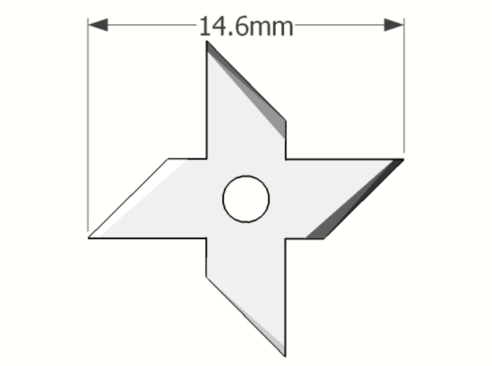 1/6 scale 4 point throwing star x16 pieces 3d printed Add a caption...
