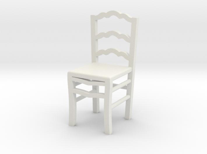 1:48 Ladderback Campagna Chair 3d printed