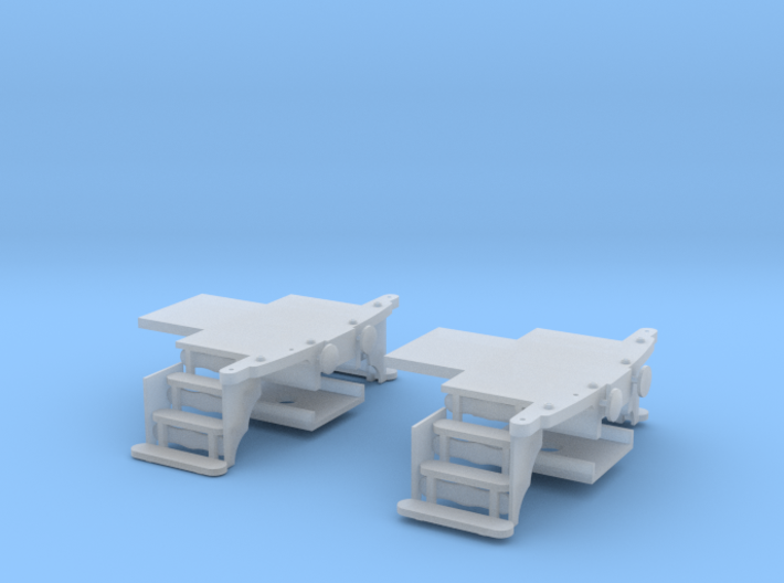 HO scale Woodruff sleeper end platforms 3d printed