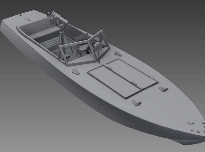 1/72nd (20mm) WW2 Russian (Soviet) motor boat body 3d printed With the small parts.