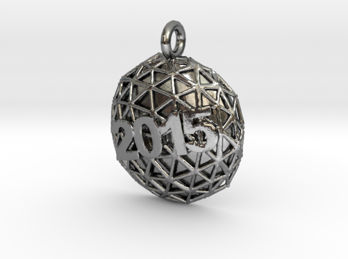New Year Ball 2015 3d printed