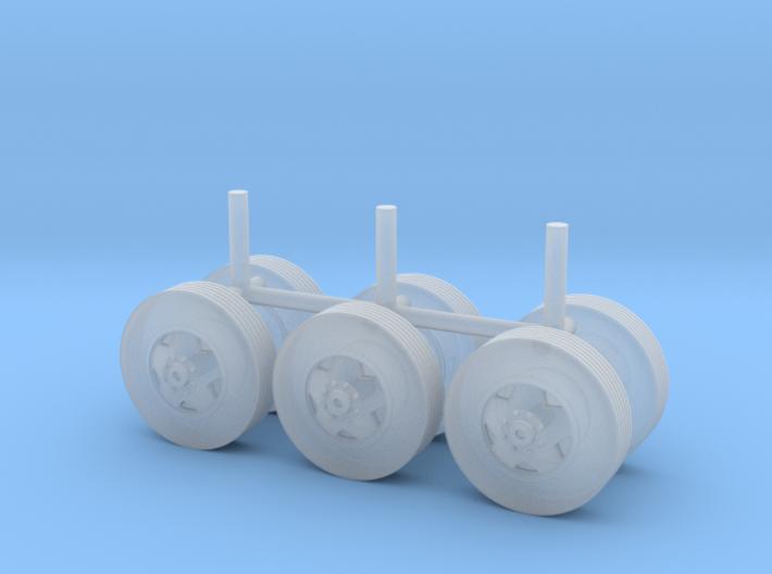"1/87 Scale Motorhome Wheels ""5 Slot"" 3d printed"