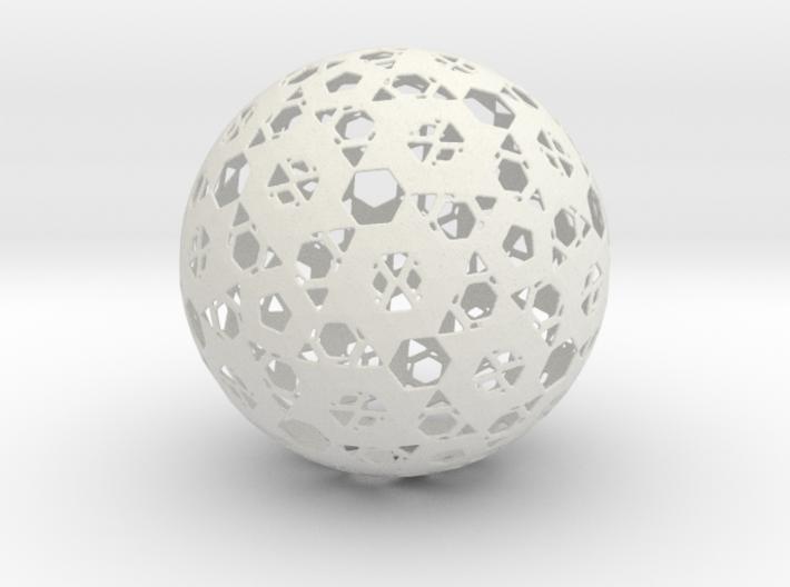 Hexa Mesh Sphere 3d printed