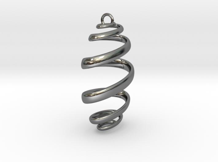 Ribbon Pendant 3d printed