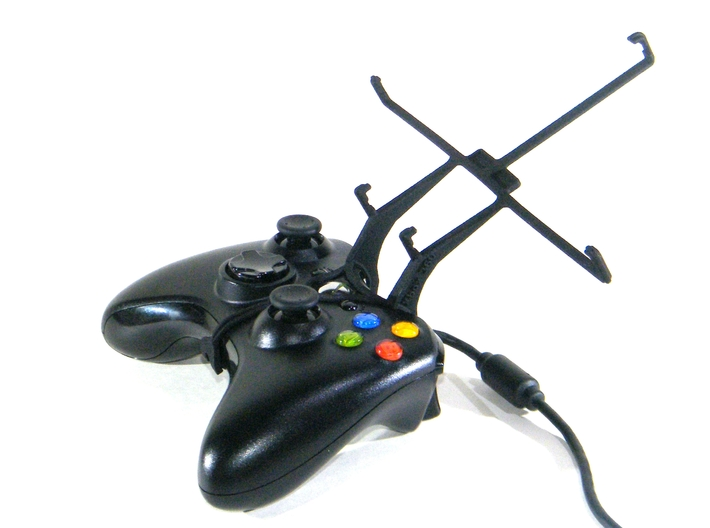 Xbox 360 controller & LG Optimus Pad LTE 3d printed Without phone - A Nexus 7 and a black Xbox 360 controller