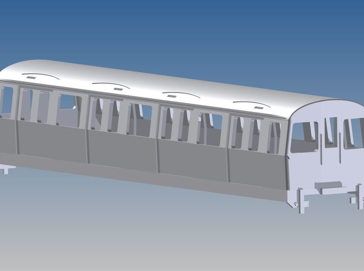1:87 H0 C-Stock trailer London Underground 3d printed