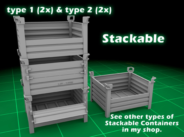 Stackable Container Set 1 3d printed