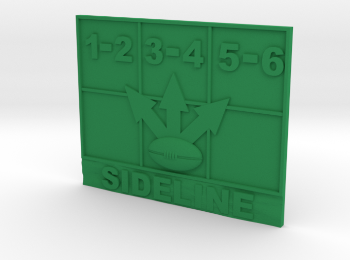 Blood Bowl Throw in Template 3d printed