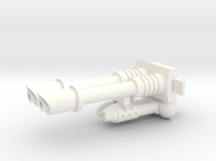 Sci-fi twin gun & twin flamehrower 25mm scale 3d printed