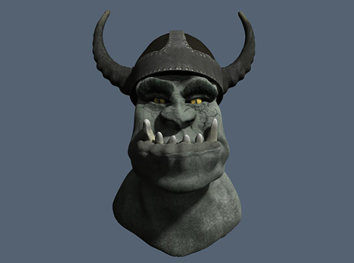 OrcWarrior 3d printed Render with texture