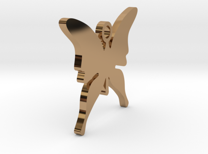 CHRISTMAS BUTTERFLY (Pendant Or Earring) 3d printed