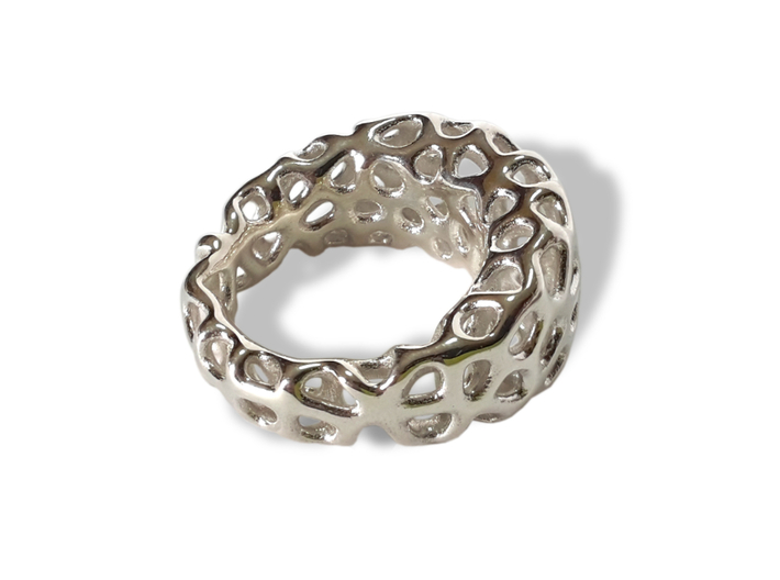 CORALLO ring 3d printed Polished Silver
