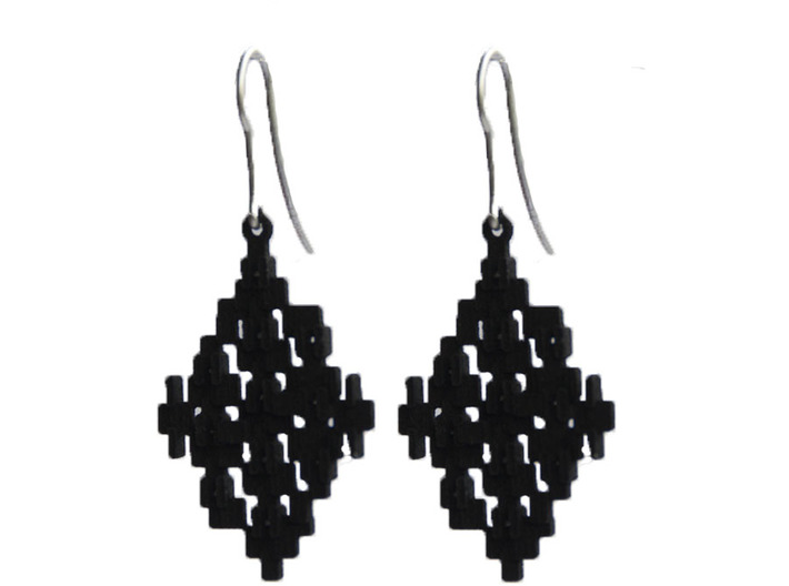 Cubic Earrings 3d printed Going out or just to work, definitely this earrings will fit any outfit.