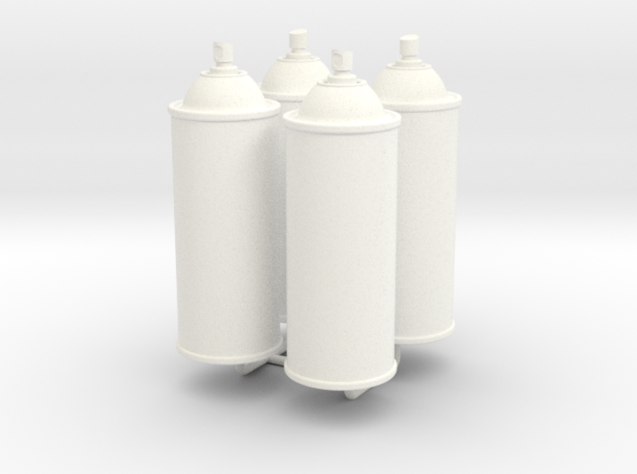 1/6 Scale Spray Cans X4 3d printed