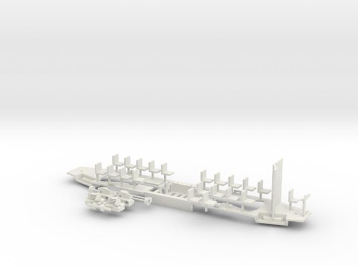Konstal 105Na Fahrwerk mit großer Kabine 3d printed
