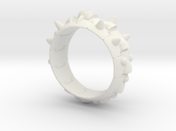 Armor Ring 01 (with stone hole) US 7.5 3d printed