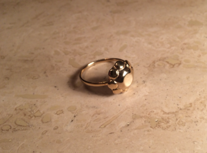 Diamond Ring US Size 8 UK Size Q 3d printed Gold Plated Brass