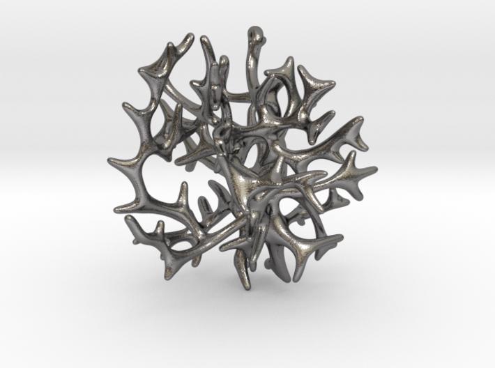 3-dimensional Coral Pendant 3d printed