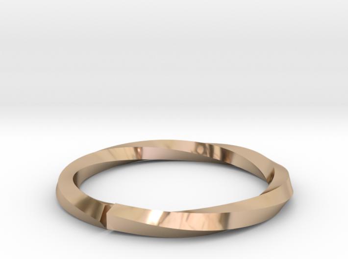 Nurbs Wedding Ring-Size 4.5 3d printed