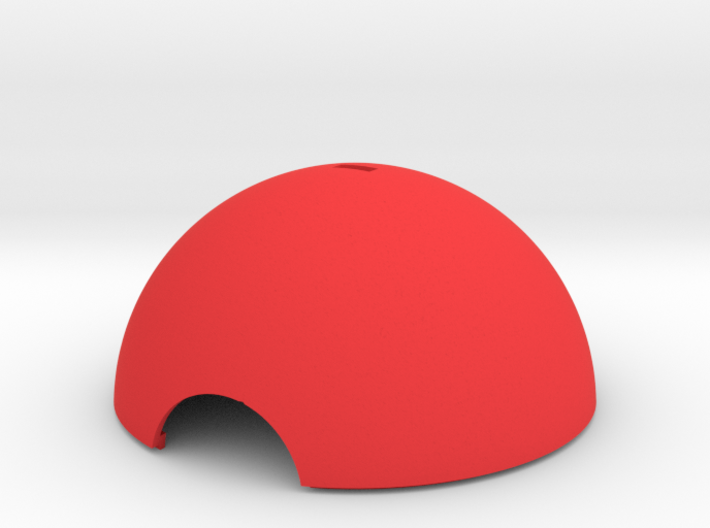 Pokebauble Top Hemisphere 3d printed Pokeball bauble hemisphere section