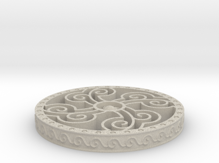 Four Elements Coaster 3d printed