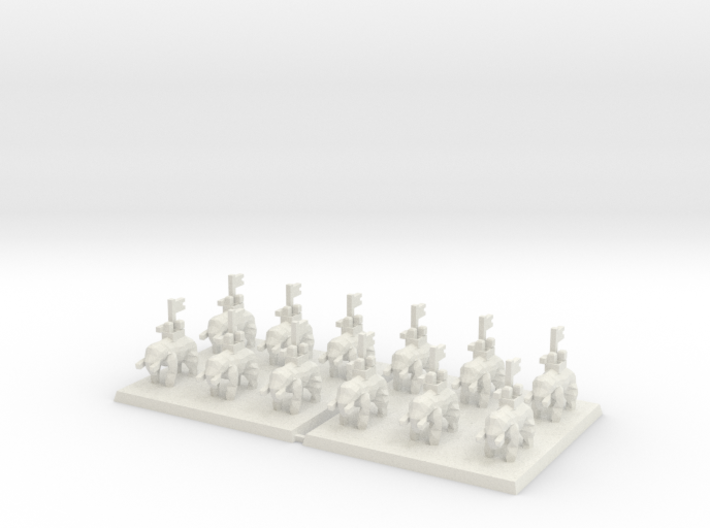 3mm DBA Elephants 40x40mm (x2) 3d printed