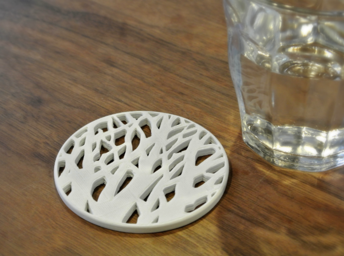 TREE SILHOUETTE COASTER 3d printed