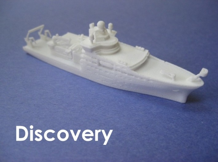 RRS Discovery (2013) (1:1200) 3d printed 1:1200 scale model of the third RRS Discovery