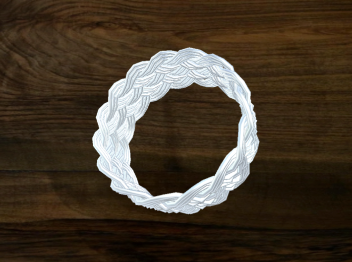 Turk's Head Knot Ring 6 Part X 15 Bight - Size 16. 3d printed