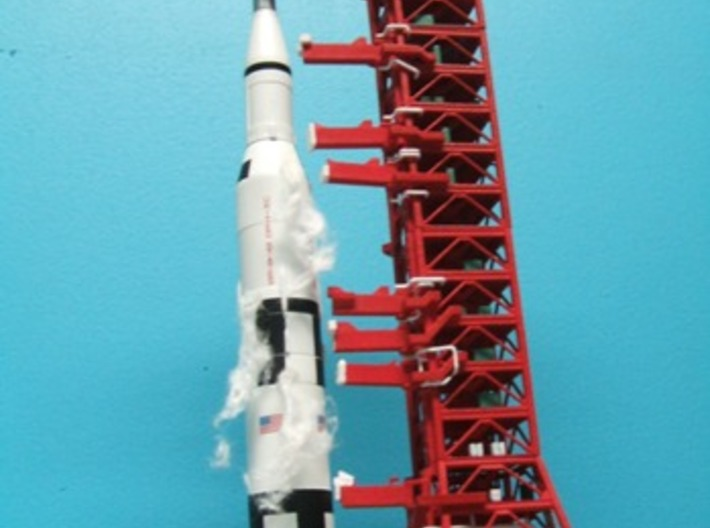 1/400 Saturn 1B Milkstool, for Apollo launch pad 3d printed CanDo Saturn V ready for launch. My thanks to Alain Plante for photos of my designs.