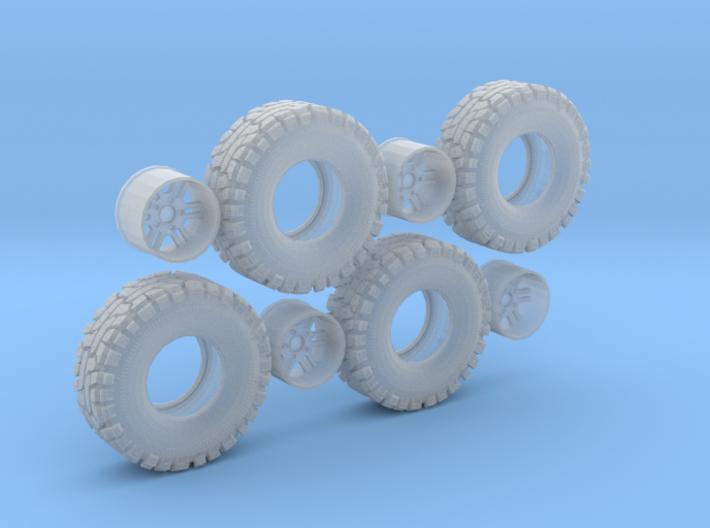 Thornbird Tire Wheel 3d printed