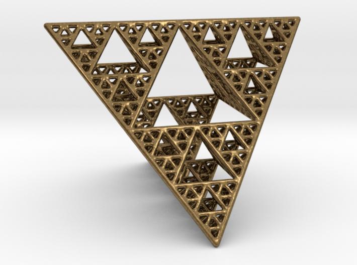 Sierpinski Tetrahedron level 4 3d printed