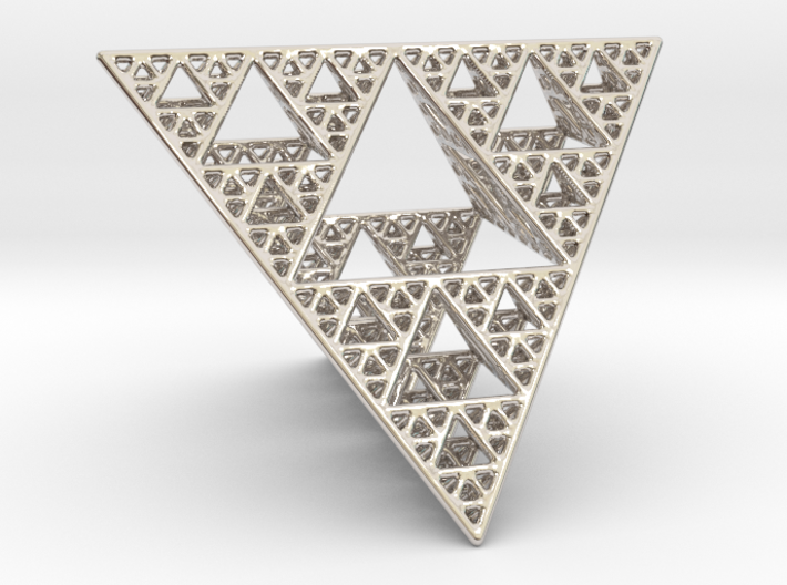 Sierpinski Tetrahedron level 4 3d printed