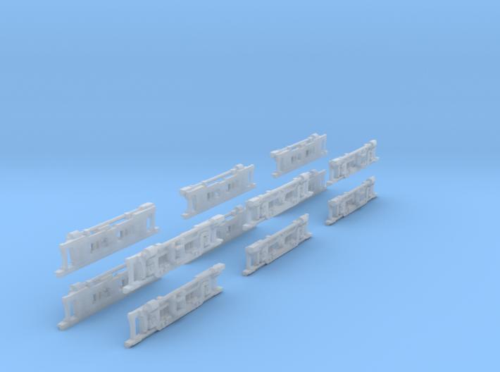 1-160 Panchorga Fake Bogies X2 Sets 3d printed