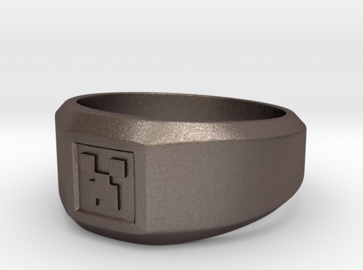 Creeper Signet Ring (Size 7 1/2 | 17.7 mm) 3d printed