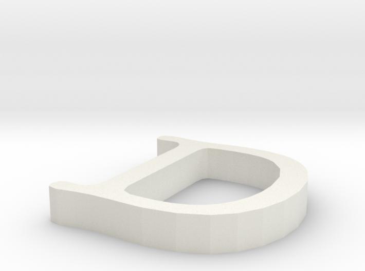D Letter 3d printed